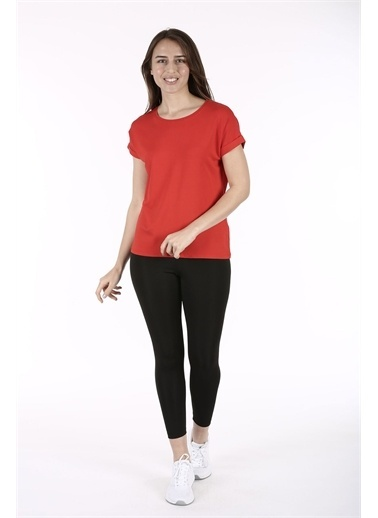 Fashion Friends Oversize Kadın Kırmızı T-Shirt Kırmızı
